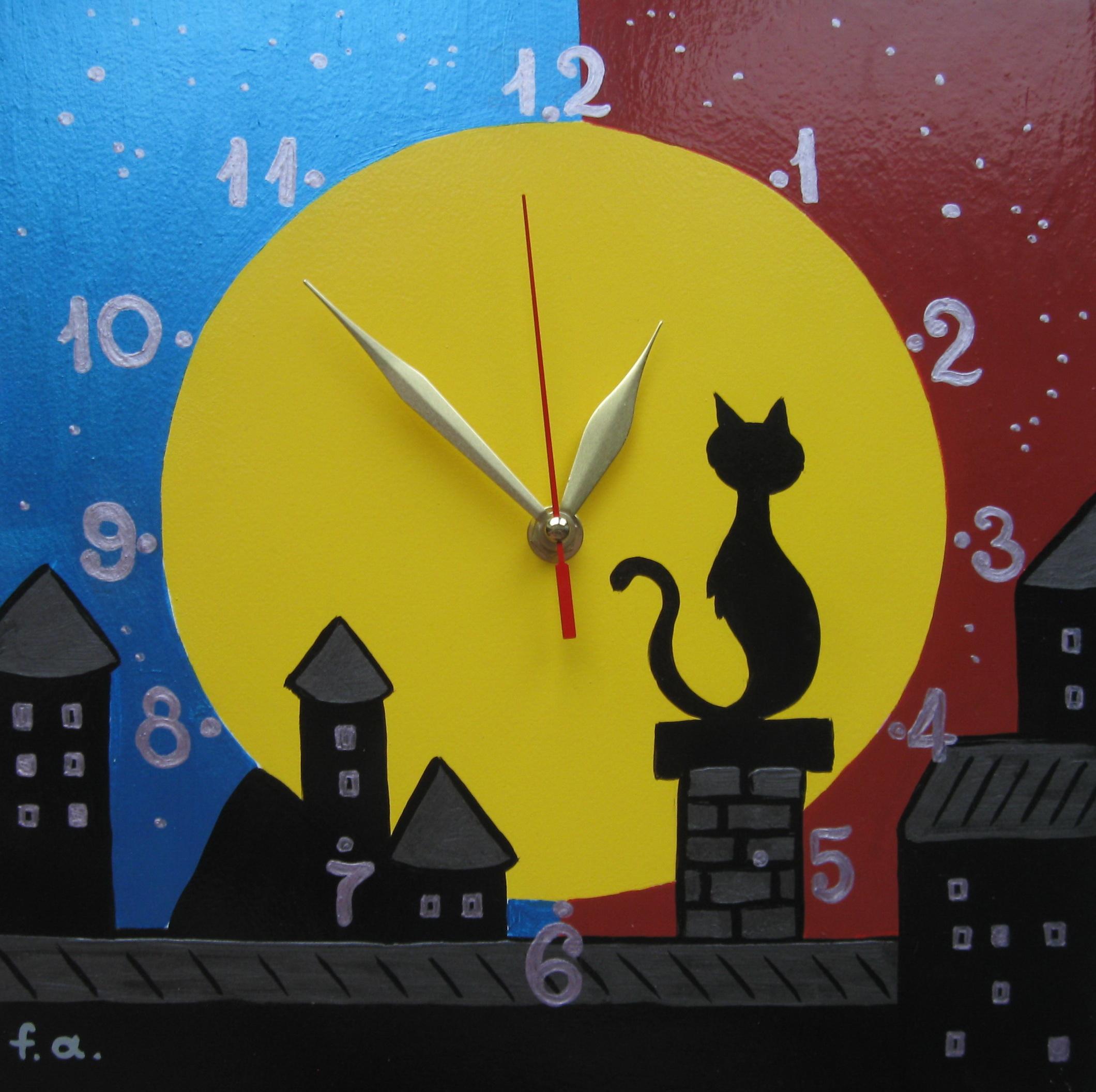 Кошка часы своими руками